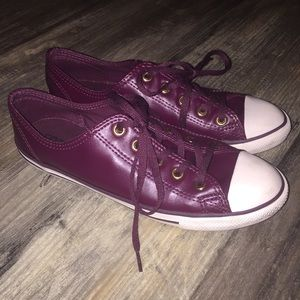 Converse All Star Chuck Taylor Burgundy Gold sz 7